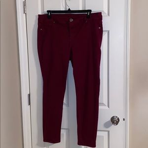 Maurice Red Skinny Jeans Size 20 Regular